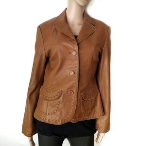 Harold's | Vintage Western Brown Leather Jacket